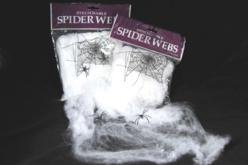 Toile d'araignée étirable + 2 araignées en plastique