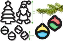 Trames vitrail pré-découpées : Pâques et Noël