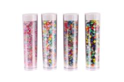Tubes de rocailles multicolores - Set de 4 - Perles de rocaille – 10doigts.fr