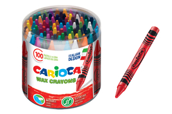 Tubo de 100 maxi crayons-cire