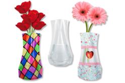 Vase souple à décorer - Transparent – 10doigts.fr