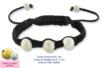 Shamballas... avec des perles en métal pailleté - Bracelets Shamballas – 10doigts.fr