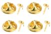 Attaches pin's dorés - Lot de 12 - Pin's et broches - 10doigts.fr
