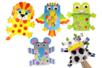Marionnettes animaux - Lot de 5 - Kits activités jeux à fabriquer – 10doigts.fr
