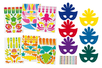 Masques Carnaval + gommettes + strass - Lot de 6 masques - Mardi gras, carnaval – 10doigts.fr