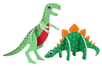 Dinosaures 3D en carton mousse à décorer - Set de 4 - Support blanc – 10doigts.fr