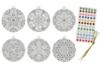 Boule de Noël Mandala à colorier - Mandalas – 10doigts.fr