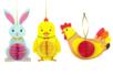 Suspensions de Pâques - Lapin, poussin et poule - Pâques – 10doigts.fr