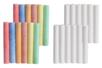 Craies blanches et couleurs - 24 craies - Craies, tableaux, ardoises – 10doigts.fr