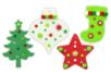 Méga pack formes de Noël à décorer et à suspendre - Caoutchouc souple – 10doigts.fr