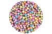 Perles rondes gravées d'une rose - Perles en plastique – 10doigts.fr