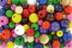 Perles rondes en bois couleurs assorties - Tailles au choix - Perles en bois - 10doigts.fr
