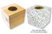 Boîte à mouchoirs cubique, en bois - Boîte à mouchoirs - 10doigts.fr