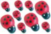 Mini coccinelles en bois peint - Lot de 25 - Motifs peint – 10doigts.fr