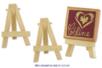 Set de 2 mini-chevalets en bois naturel 7,5 x 5 cm - DESTOCKAGE - 10doigts.fr