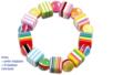 Perles cubes bayadère en acrylique - Set de 50 - Perles acrylique – 10doigts.fr