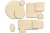 Supports plats en bois naturel contreplaqué - Supports plats en bois naturel contreplaqué – 10doigts.fr