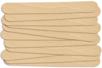 Languettes en bois naturel - 100 pcs - Bâtonnets, tiges, languettes - 10doigts.fr