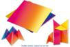 Feuilles de papiers carré arc en ciel assorties - Papiers Origami - 10doigts.fr