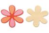 Fleur N°5 en bois naturel - Motifs brut - 10doigts.fr