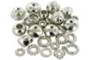 Mix de perles et de charm's en plastique métallisé argenté - Perles intercalaires & charm's - 10doigts.fr