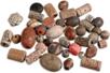 Perles artisanales Troja en céramique - Set de 40 - Pierres semi précieuses et minérales - 10doigts.fr
