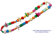 Perles en bois en camaïeu de bleus - Set de 110 - Perles en bois – 10doigts.fr