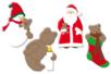 Motifs de Noël en bois décoré - Motifs peint – 10doigts.fr