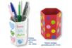 Pots à crayons héxagonaux en carton fort blanc - Pots, vases, paniers, sacs – 10doigts.fr
