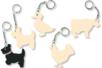 Porte-clefs animaux de la ferme - Porte-clefs en bois - 10doigts.fr