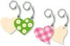 Porte-clefs cœurs - Lot de 4 - Porte-clefs en bois - 10doigts.fr