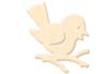 Oiseau en bois naturel - Motifs brut - 10doigts.fr