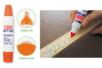 Colle forte blanche en tube avec double applicateur - Colles scolaires - 10doigts.fr