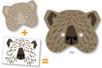 Set de 5 masques animaux à décorer avec des gommettes - Masques – 10doigts.fr