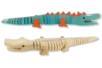 Crocodile articulé en bois naturel - Animaux 3D – 10doigts.fr