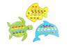 Cartes à tisser animaux de la mer - Set de 6 - Kits activités d'apprentissage – 10doigts.fr