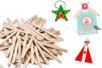 Bâtons d'esquimaux en bois - Bâtonnets, tiges, languettes - 10doigts.fr