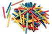 Bâtons d'esquimaux en bois coloré - Bâtonnets, tiges, languettes - 10doigts.fr
