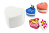 Boite coeur en terre cuite blanche - Céramique et Porcelaine - 10doigts.fr