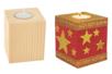 Bougeoir cubique en bois - Bougeoirs - 10doigts.fr