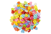 Boutons coeurs multicolores - 200 pièces - Boutons - 10doigts.fr