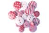 Boutons à motifs camaïeu rose - Set de 28 - Boutons - 10doigts.fr