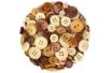 Boutons ronds en bois naturel verni - 300 pièces - Boutons – 10doigts.fr
