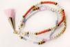 Pompons colorés avec embout métal doré - 5 pièces - Perles intercalaires & charm's – 10doigts.fr