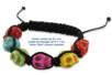 """Shamballas... avec des perles Têtes de mort """"Skull"""" - Bracelets Shamballas – 10doigts.fr"""