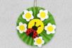 Bricolage coccinelles fleurs papier - Tête à Modeler