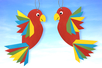 Perroquets en papier - Activités enfantines – 10doigts.fr