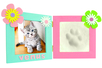 Cadre double empreinte bébé + photo - Empreinte – 10doigts.fr
