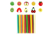 Canes fruits - Set de 10 - Décorations Fimo – 10doigts.fr