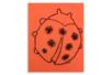 Carte Coccinelle à piquer et à broder - Broderie, tressage – 10doigts.fr